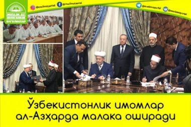 Ўзбекистонлик имомлар ал-Азҳарда малака оширади