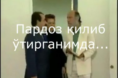 Пардоз қилиб ўтирганимда…